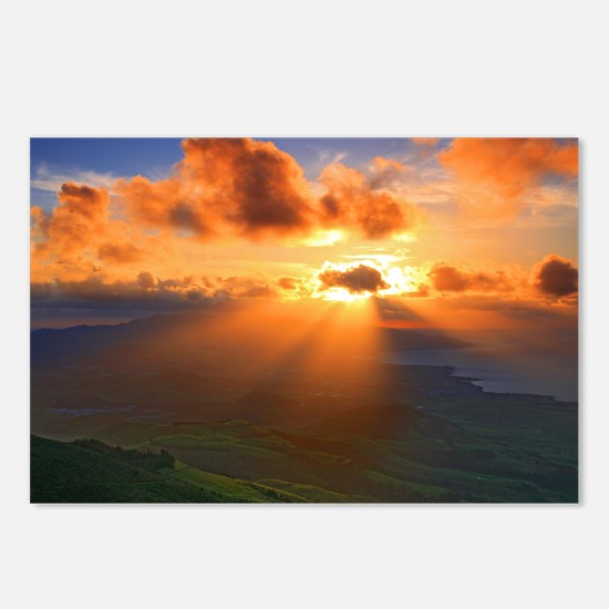 Inspirational heaven suns Postcards (Package of 8)