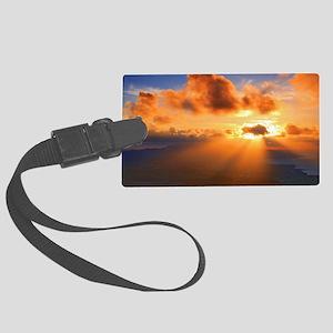 Inspirational heaven sunset Large Luggage Tag