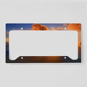 Inspirational heaven sunset License Plate Holder
