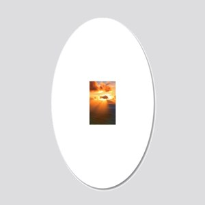 Inspirational heaven sunset 20x12 Oval Wall Decal