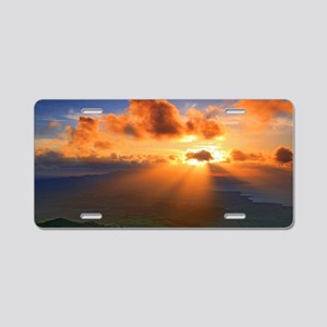 Inspirational heaven sunset Aluminum License Plate