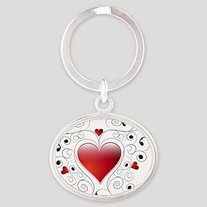heart Oval Keychain