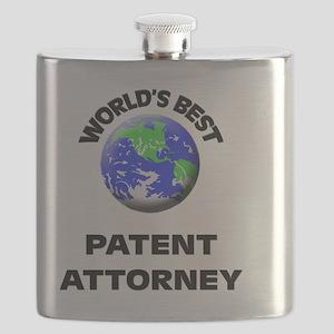 World's Best Patent Attorney Flask