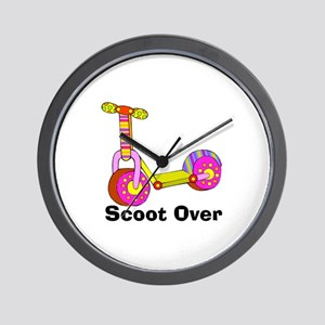 Girl's Scooter Wall Clock