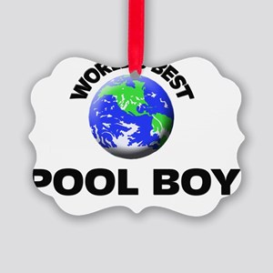 World's Best Pool Boy Picture Ornament