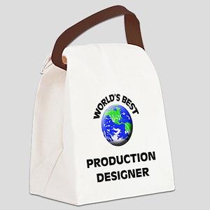 World's Best Production Designer Canvas Lunch Bag