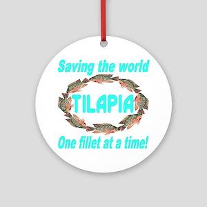 Spectacular Tilapia Ellipse Round Ornament