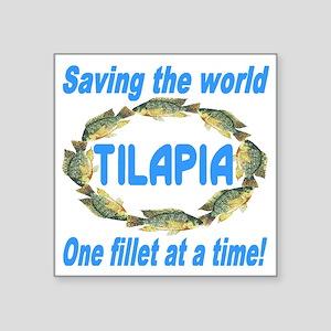 "Spectacular Tilapia Ellipse Square Sticker 3"" x 3"""