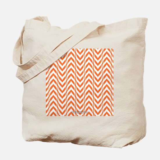 Chevron Zig Zag Pattern Orange Tote Bag
