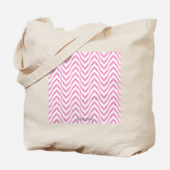 Chevron Zig Zag Pattern Pink Tote Bag