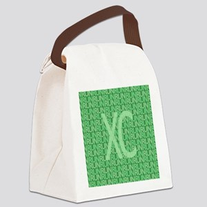 XC Run Run Green Canvas Lunch Bag