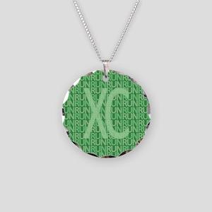 XC Run Run Green Necklace Circle Charm