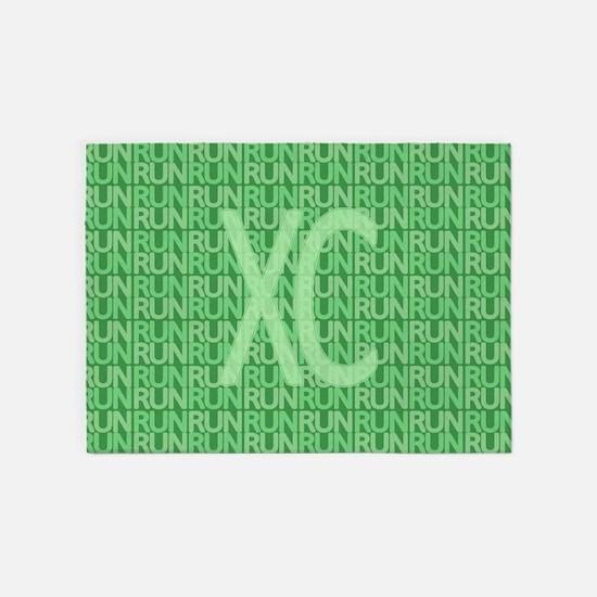 XC Run Run Green 5'x7'Area Rug