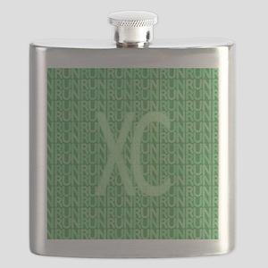 XC Run Run Green Flask