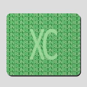 XC Run Run Green Mousepad