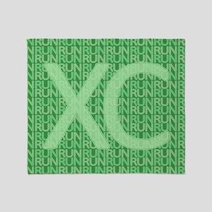 XC Run Run Green Throw Blanket