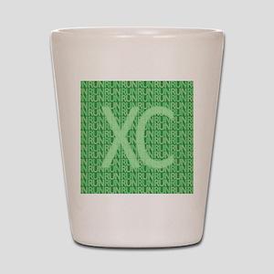 XC Run Run Green Shot Glass