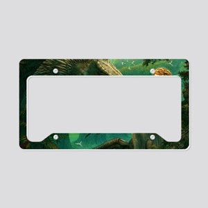 green_dragon_hrect_01 License Plate Holder