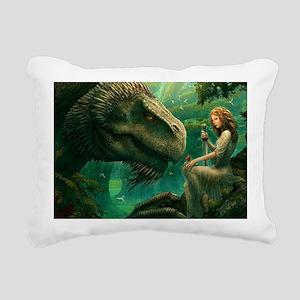 green_dragon_hrect_01 Rectangular Canvas Pillow