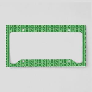 XC Run Run Green License Plate Holder