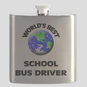 World's Best School Bus Driver Flask