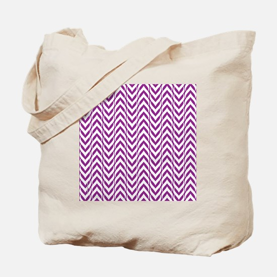 Chevron Zig Zag Pattern Light Purple Tote Bag