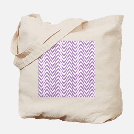 Chevron Zig Zag Pattern Purple Tote Bag