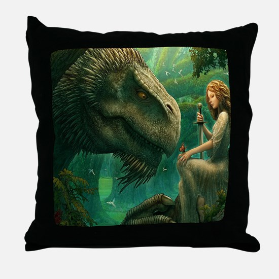 S-KINGDUVET-4032x3456-greendragon Throw Pillow