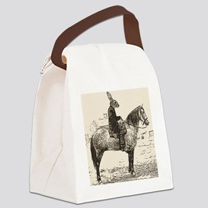 rabbits Ride Canvas Lunch Bag