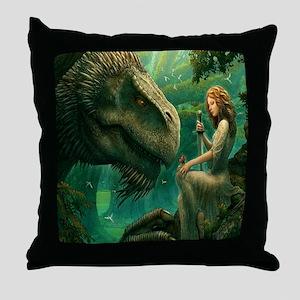 S-QUEENDUVET-3456X3456-greendragon Throw Pillow