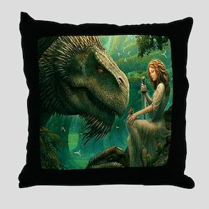 S-SHOWERCURTAIN-2556X2592-greendragon Throw Pillow