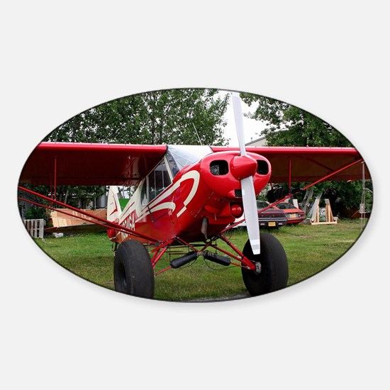 Red and white aircraft, Alaska Decal
