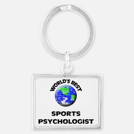 World's Best Sports Psychologis Landscape Keychain