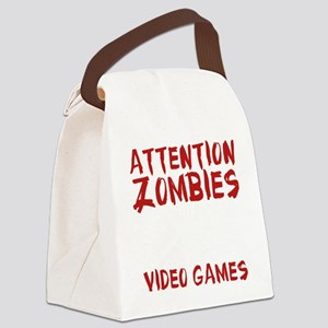 ZombiesVideoGames1E Canvas Lunch Bag