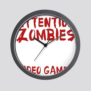 ZombiesVideoGames1E Wall Clock