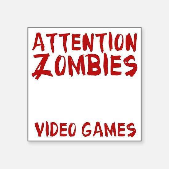 """ZombiesVideoGames1E Square Sticker 3"""" x 3"""""""