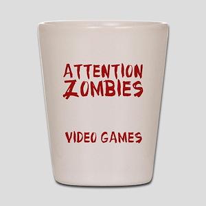 ZombiesVideoGames1E Shot Glass
