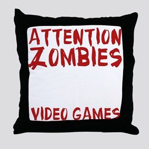 ZombiesVideoGames1E Throw Pillow