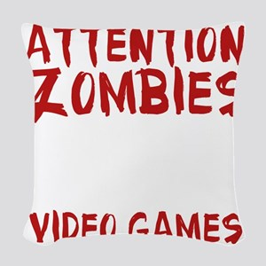 ZombiesVideoGames1E Woven Throw Pillow