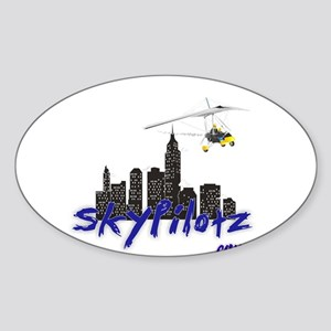 SkyPilotz.com Oval Sticker