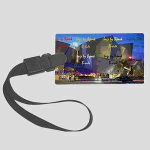 concert hall clutch B side Large Luggage Tag