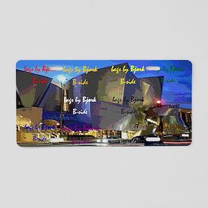 concert hall clutch B side Aluminum License Plate