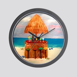 Tiki Bar Wall Clock