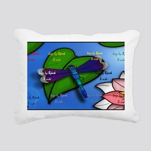 CAB dragonfly shoulder B Rectangular Canvas Pillow