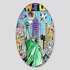 NYC Poster Design #1 Sticker (Oval)