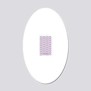Chevron Zig Zag Pattern Purp 20x12 Oval Wall Decal