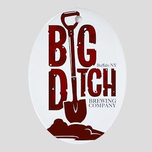 Big Ditch Brewing Company Logo Oval Ornament