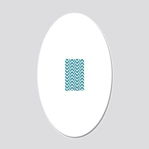 Chevron 20x12 Oval Wall Decal