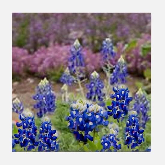 BLUEBONNET SHOWER CURTAIN Tile Coaster