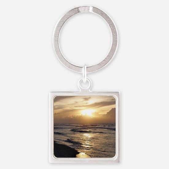 Myrtle Beach Sunrise Square Keychain